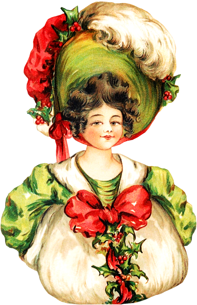 Victorian woman women. Lady clipart christmas
