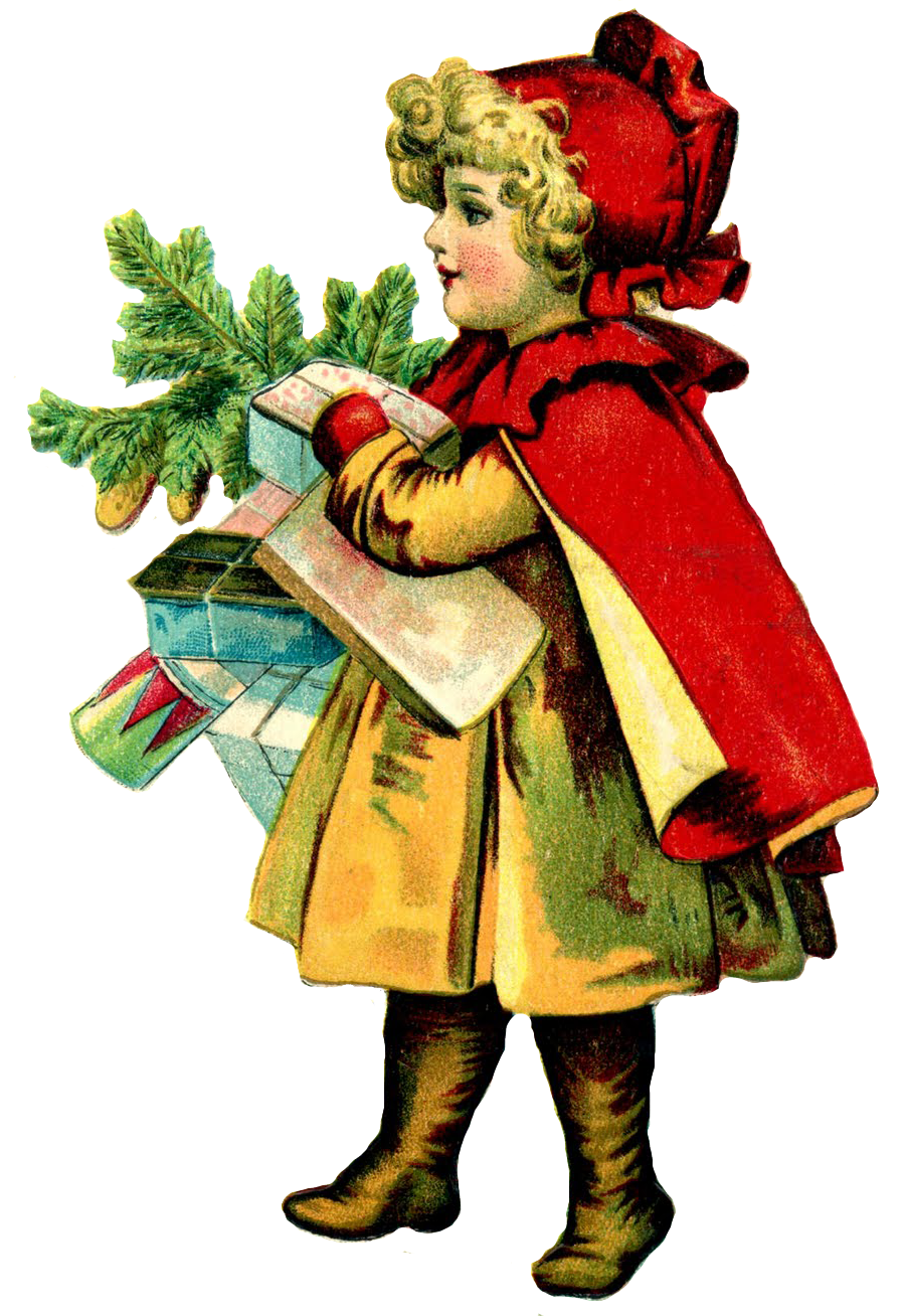 Activities merry and happy. Clipart christmas victorian