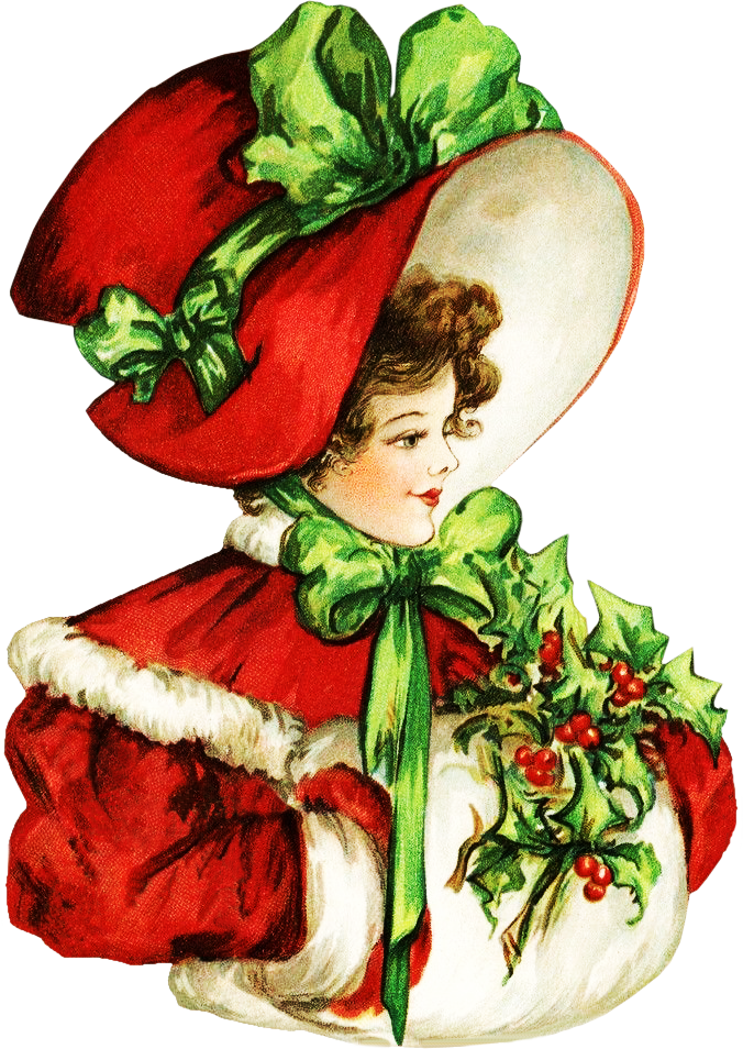 Beauty . Clipart christmas victorian