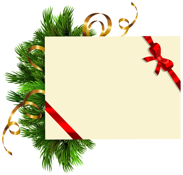 Blank with pine branches. Congratulations clipart christmas