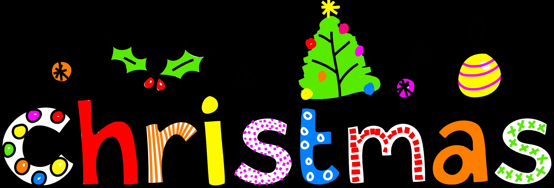 Clipart tree word. Christmas typography big image