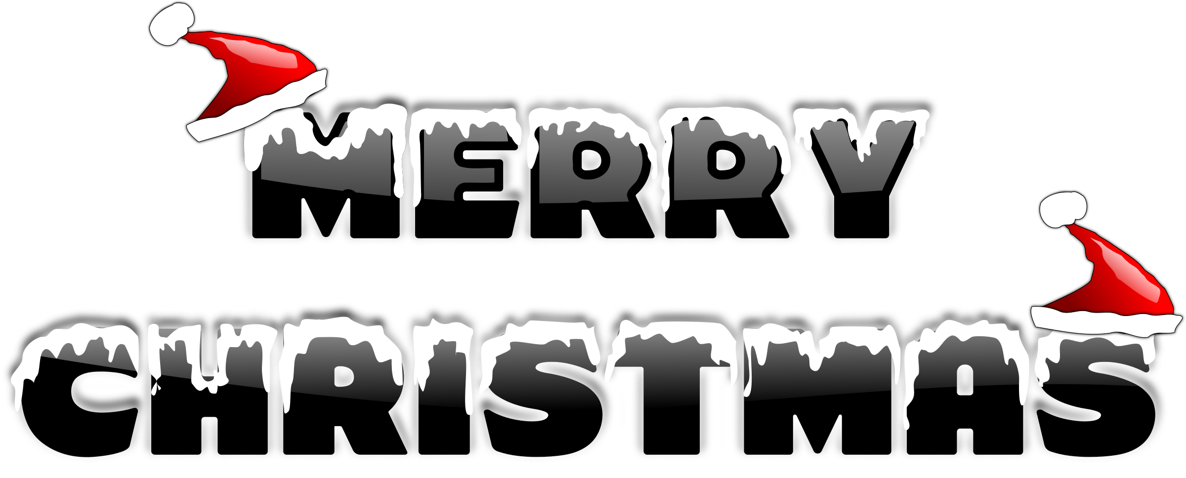 Merry christmas big image. Words clipart team
