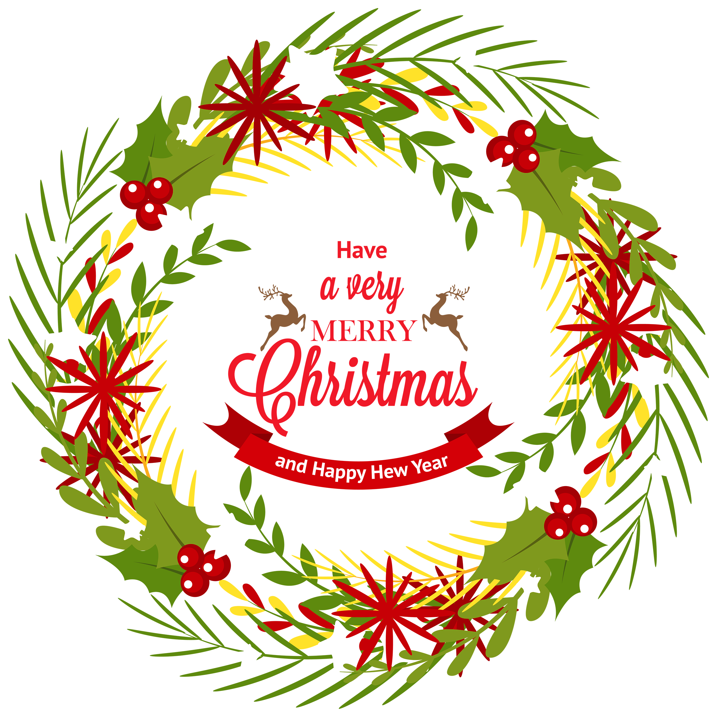 Clipart vegetables wreath. Christmas with mistletoe png