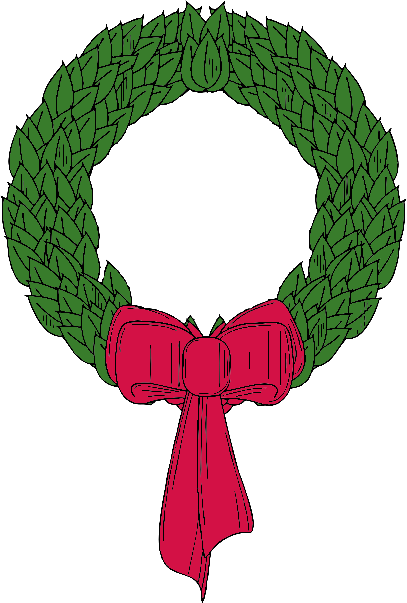 Christmas big image png. December clipart wreath