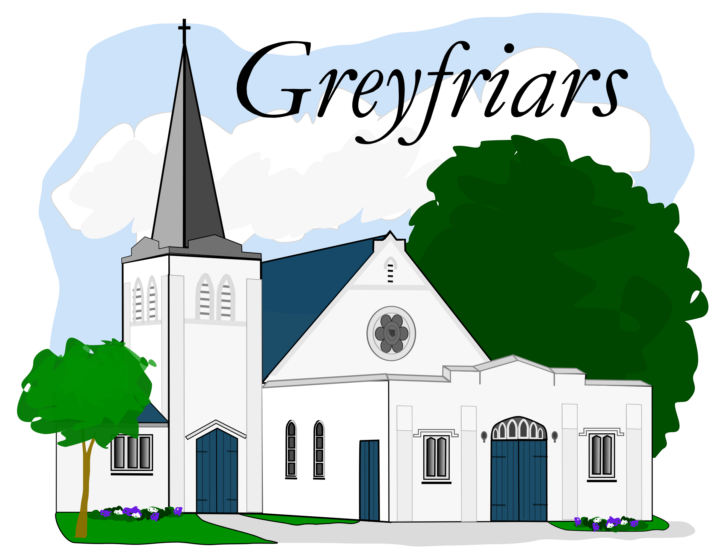 Greyfriars church mt eden. Trail clipart summit mountain