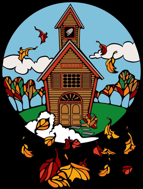 Schoolhouse autumn school