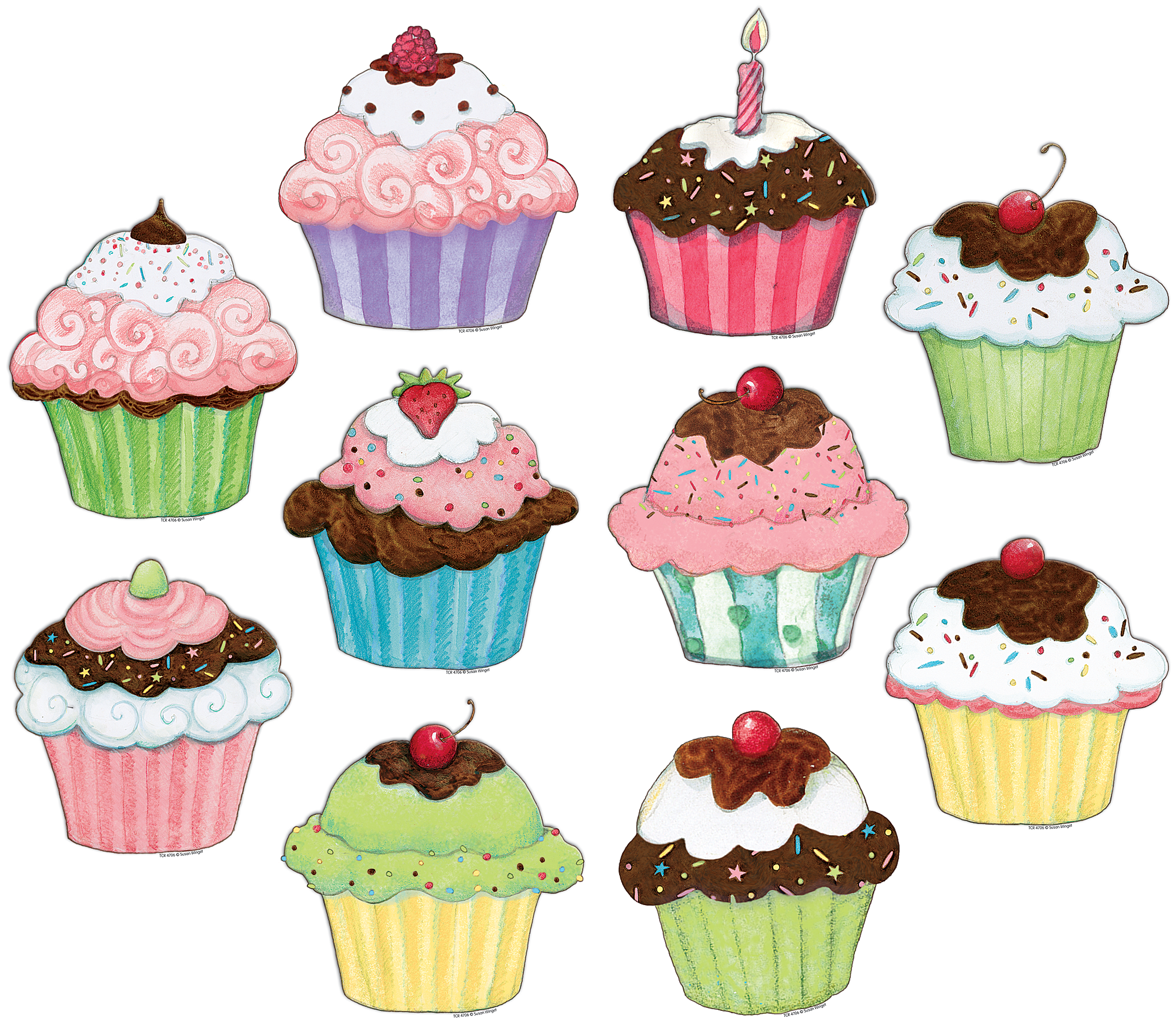 Cupcakes accents from susan. Ladybug clipart cupcake