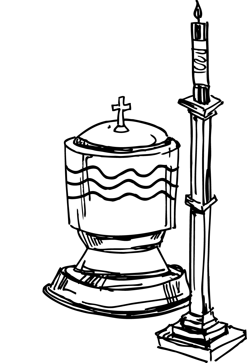 collection of baptism. Lds clipart baptismal font