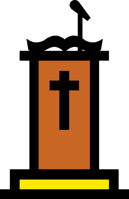 Clipart church cathedral. Pulpit vector image illustration