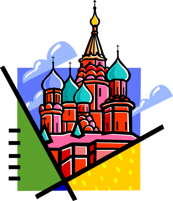 St basil s moscow. Clipart church cathedral