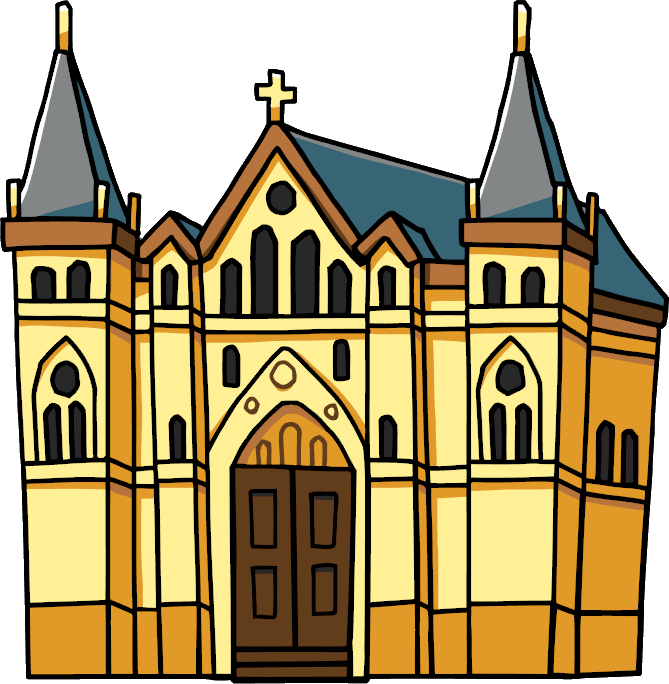 clipart church cathedral