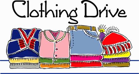 Fall drive clip art. Fundraiser clipart clothing donation