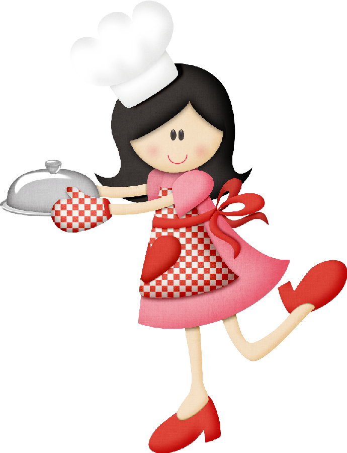 Retro cocinera utensilios de. Clipart zebra cartoon female