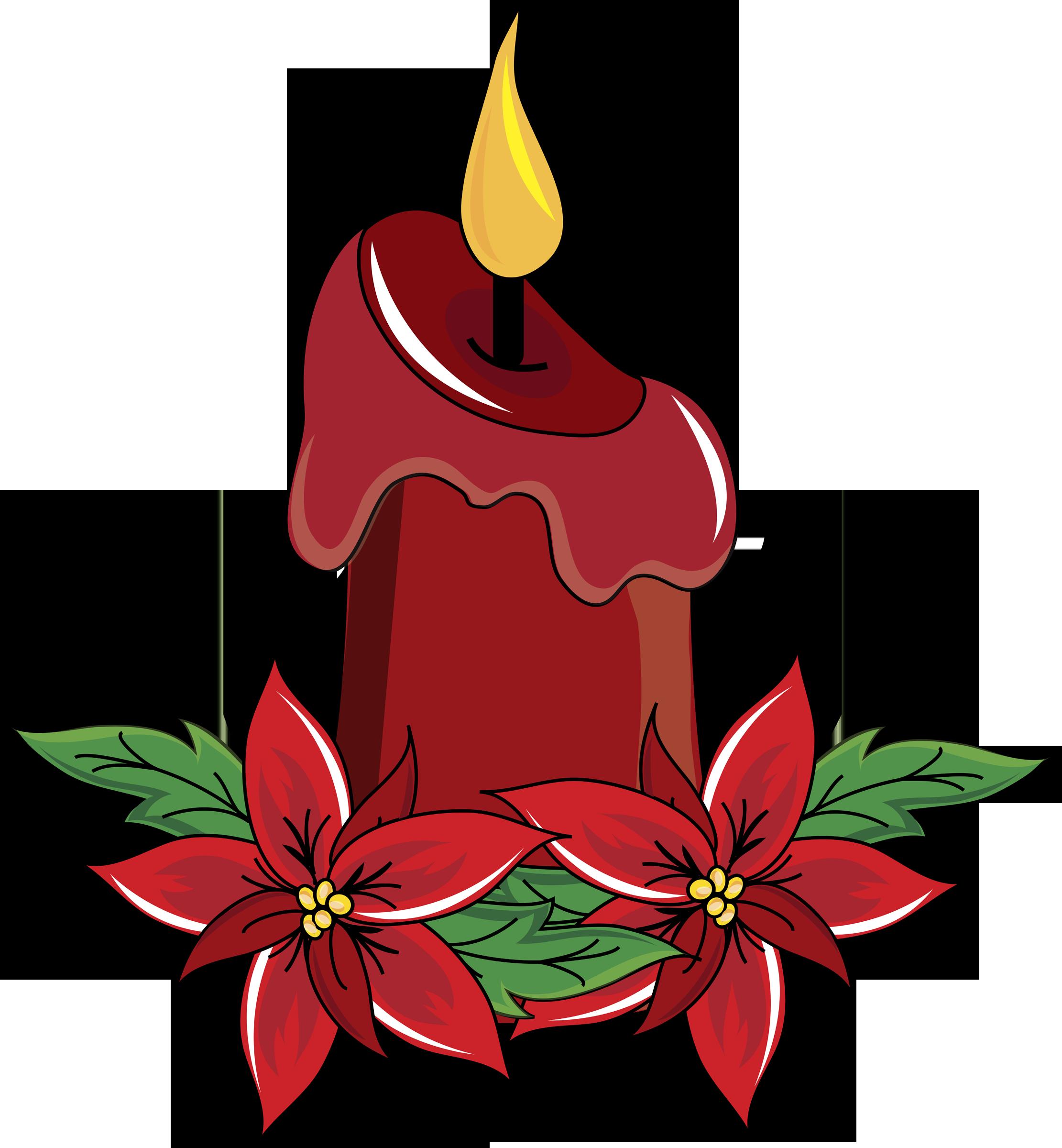 Poinsettias clipart candel. December epworth united methodist