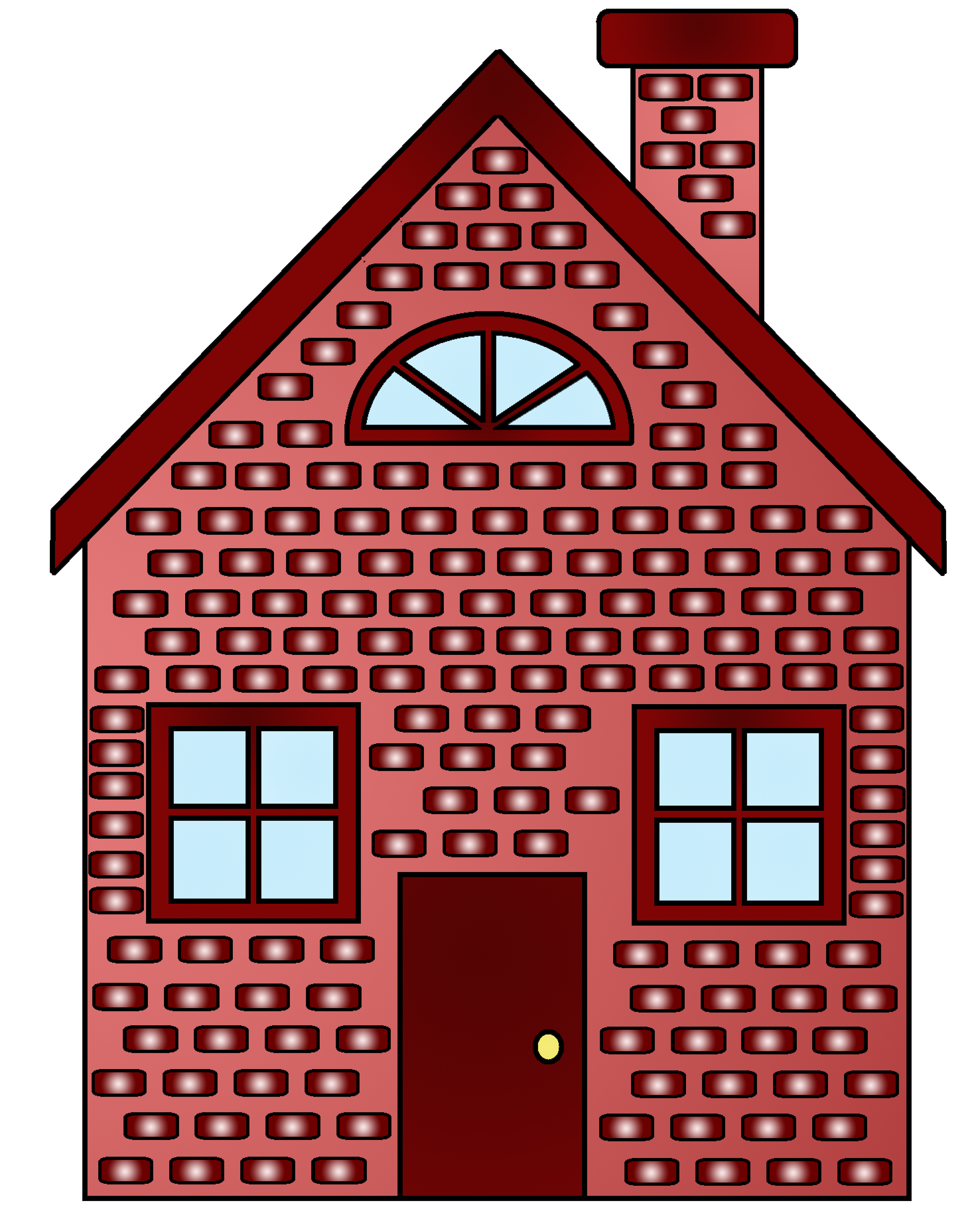 Houses clipart flat. Brick house free collection