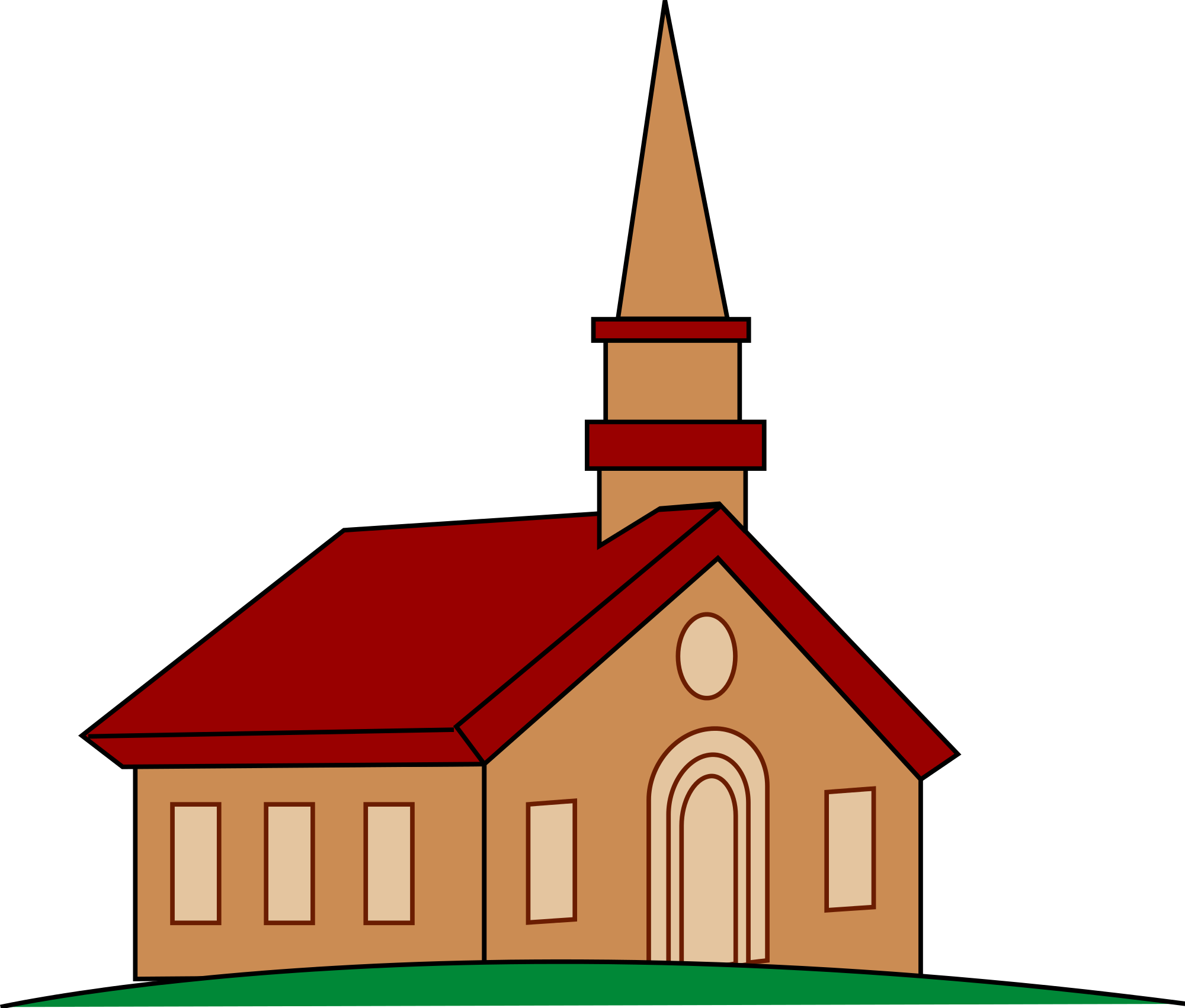 Family clipart church. Silhouette clip art at