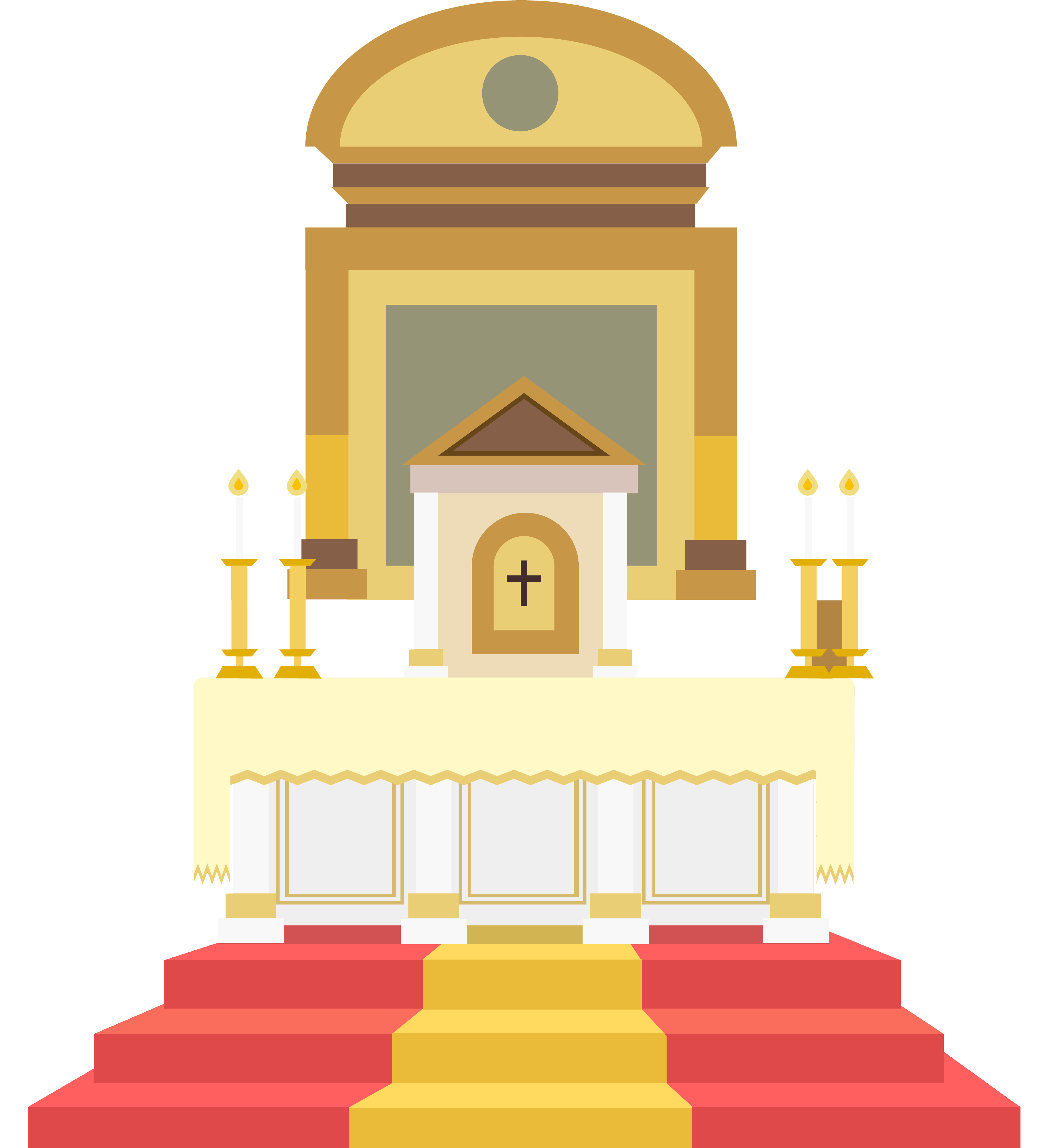 Altar in the catholic. Mission clipart old church