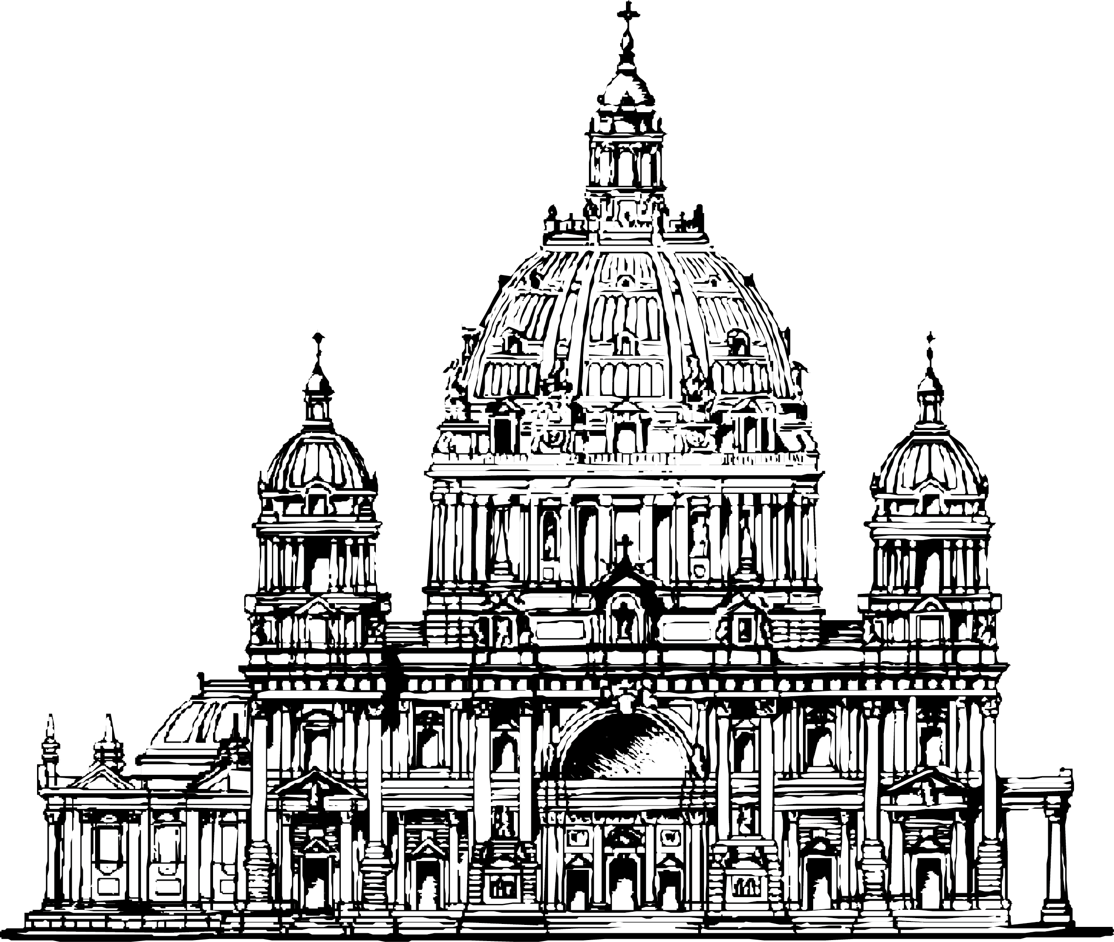 Berlin cathedral xara architecture. Palace clipart old palace