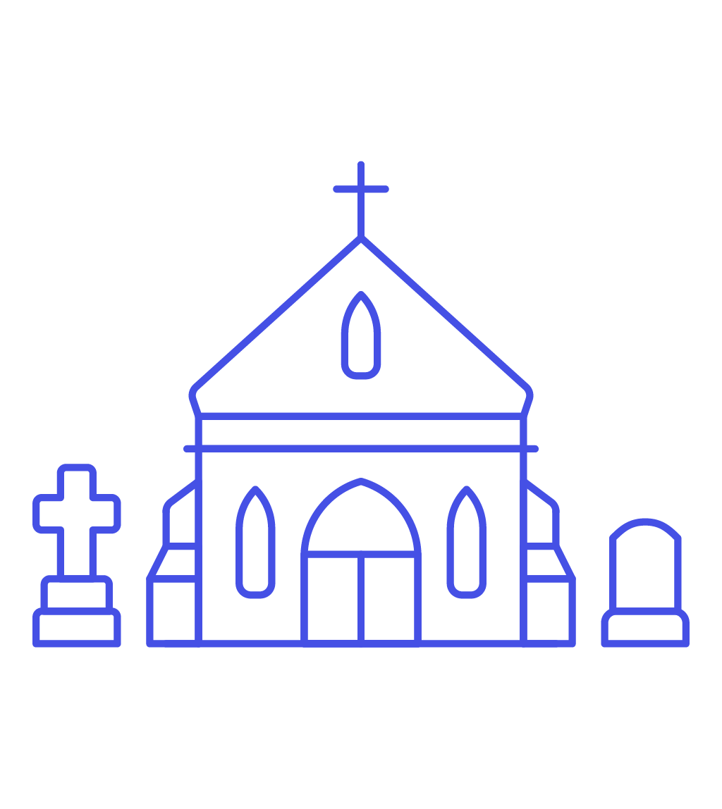 Icon image creator pushsafer. Clipart church graveyard
