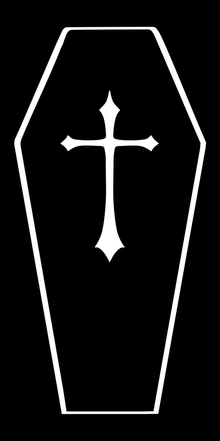 Clipart church graveyard. Coffin silhouette imgmob final