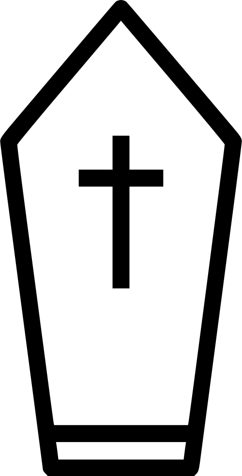Clipart church graveyard. Coffin cross grave svg