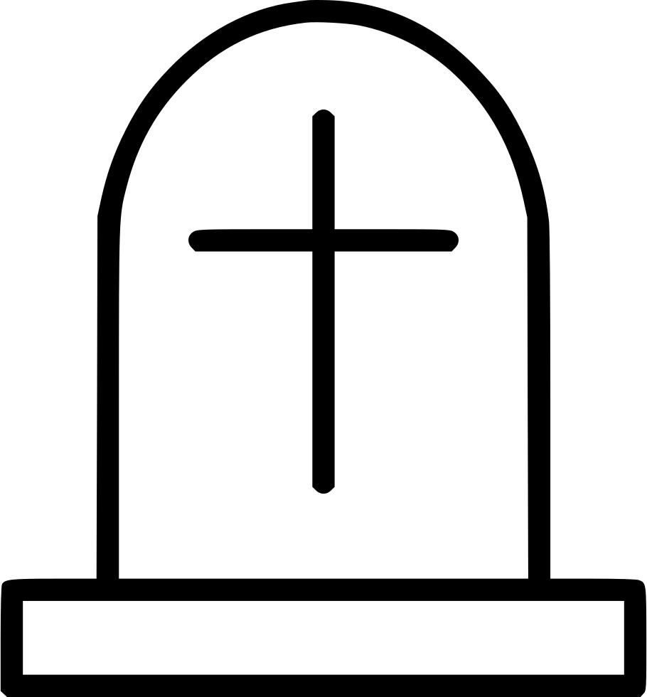 Cemetery graveyard necropolis svg. Gravestone clipart coffin box