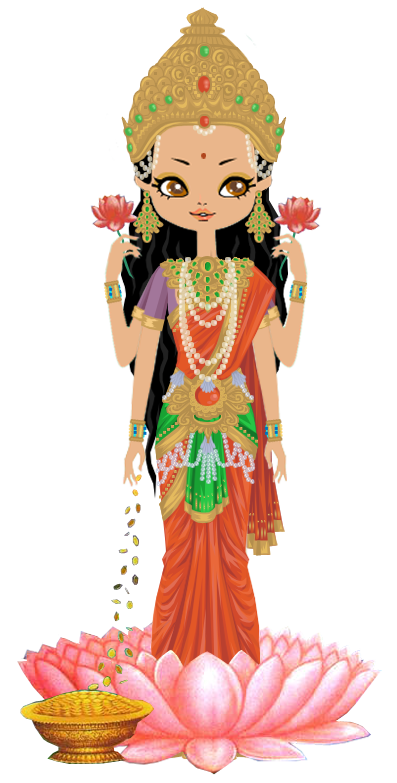 Goddess lakshmi by marasop. Greek clipart ariadne