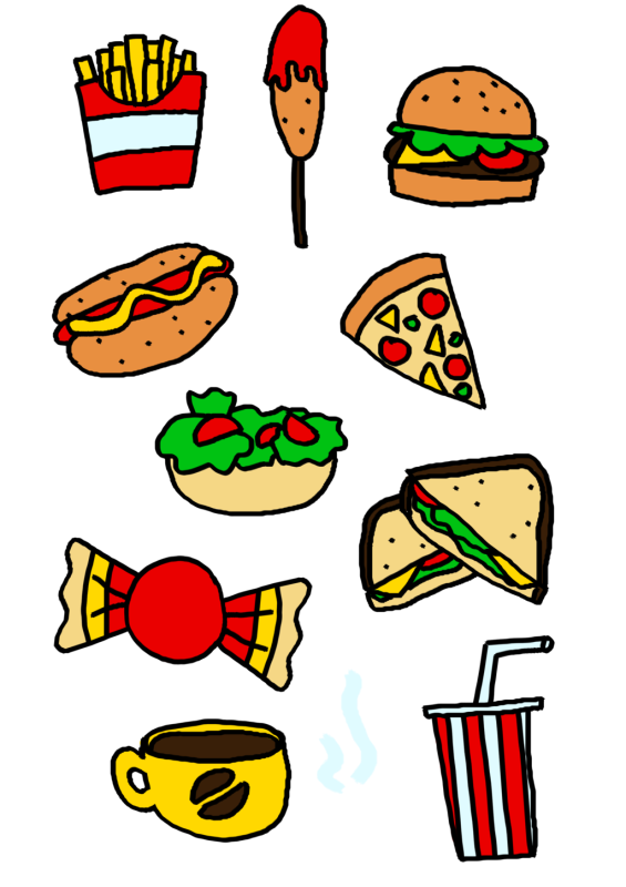 Food clipart collage. Hubpicture pin