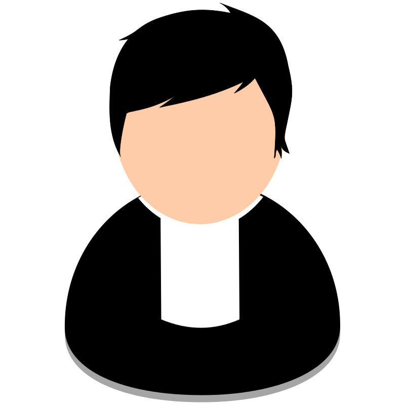 Neck clipart head and neck. Clergy pastor priest clip