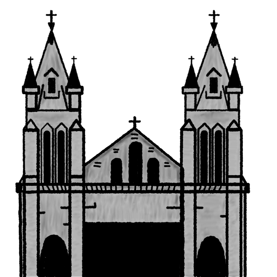 Clipart church place. Cathedral by matiseli on