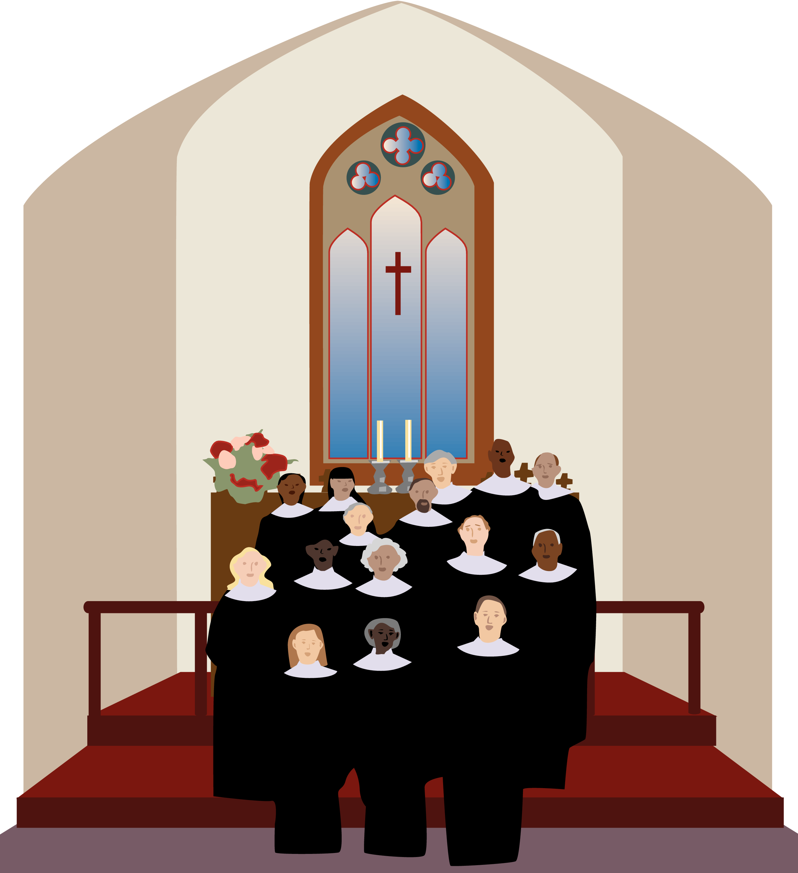 Altar in the Catholic Church Sanctuary Clip art