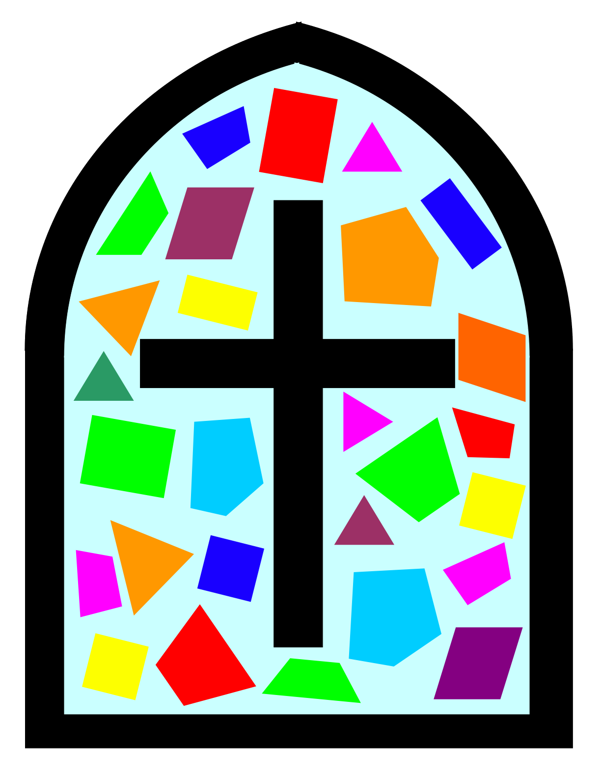 clipart church stained glass