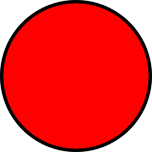 Clipart circle. Red free