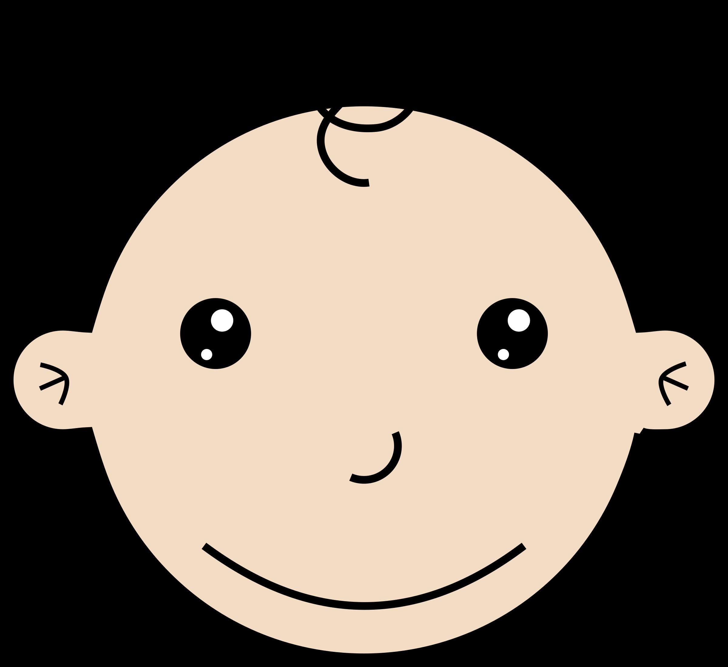 Contractor clipart sad. Smiling baby big image