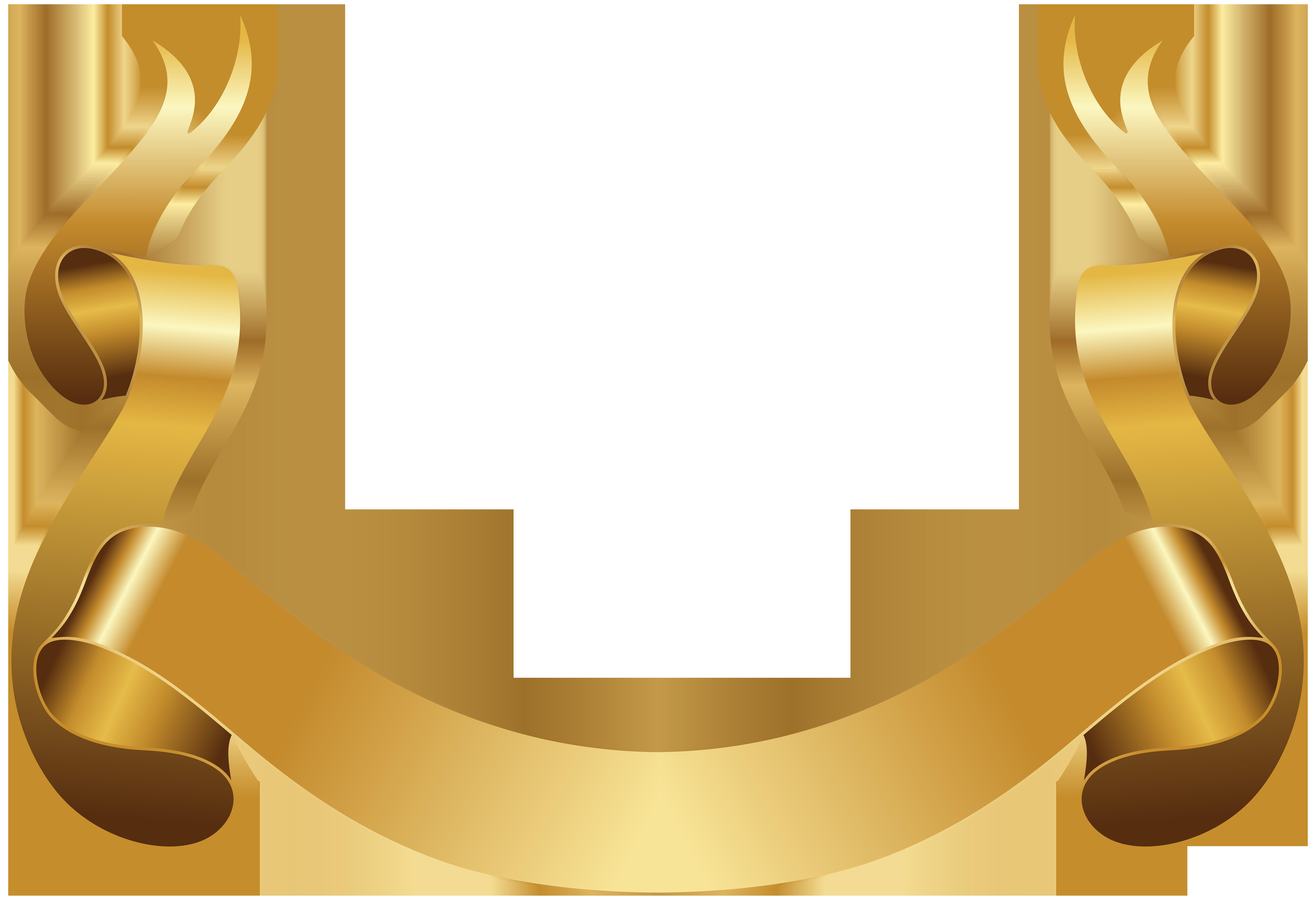 Grain clipart circle. Banner gold decorative clip