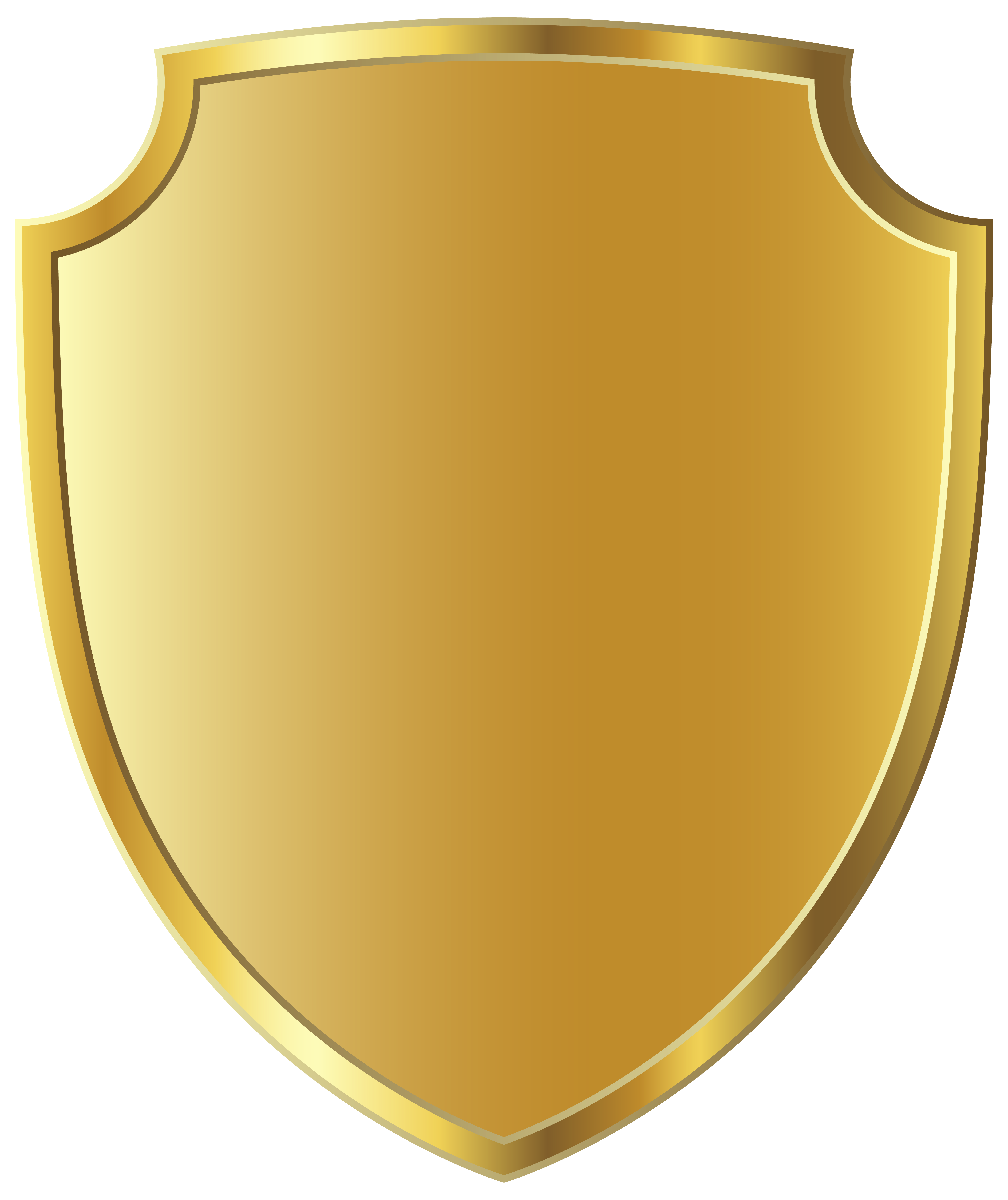 Gold badge template png. Clipart shield frame