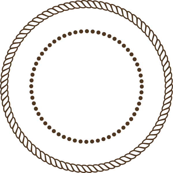 Stamp clipart blank. Rope brown pencil and