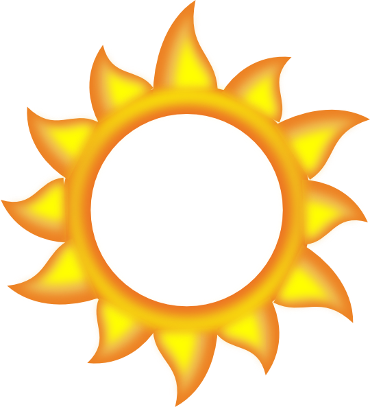 A cartoon clip art. Evaporation clipart sun