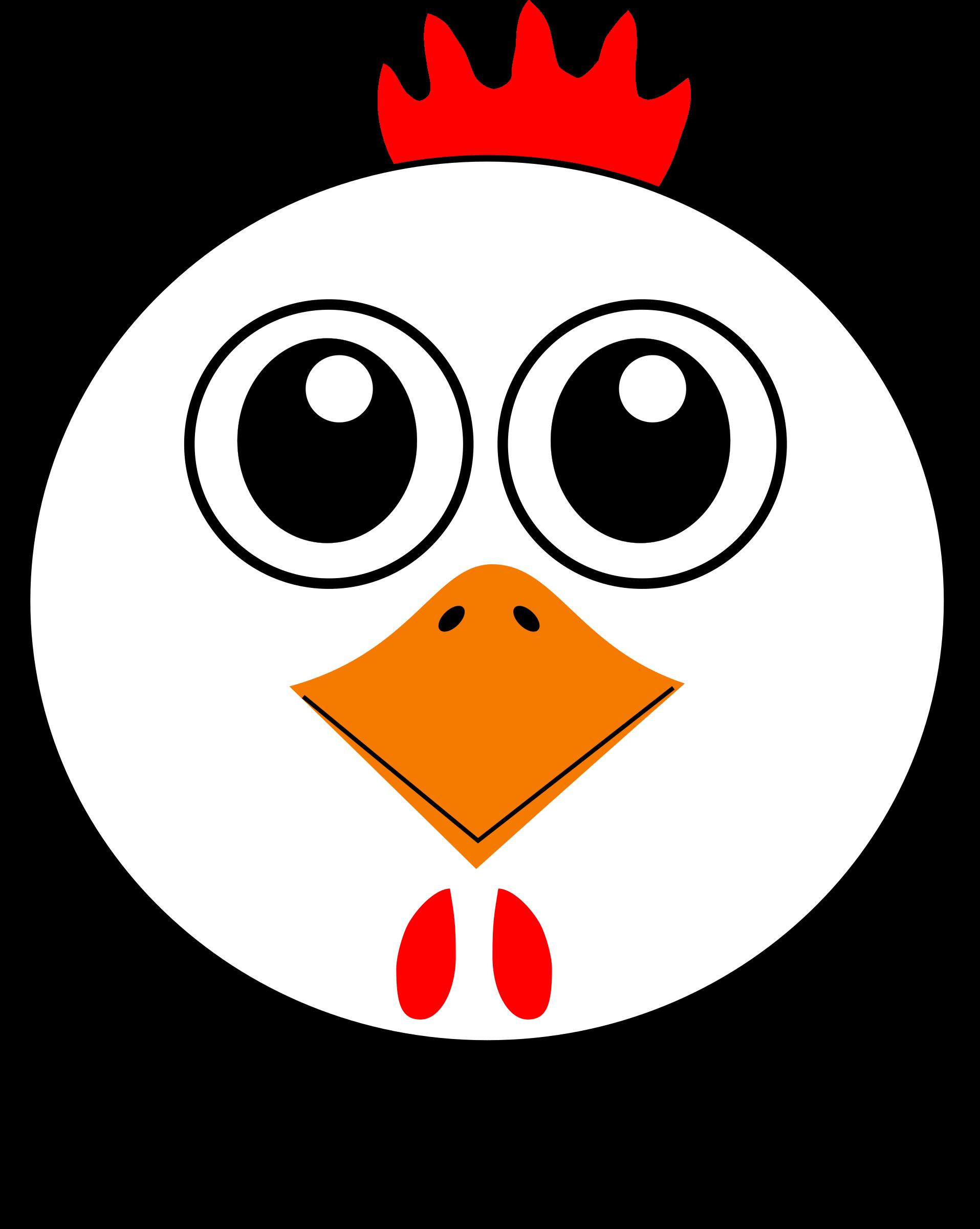 Clipart face big bird. Funny chicken cartoon image