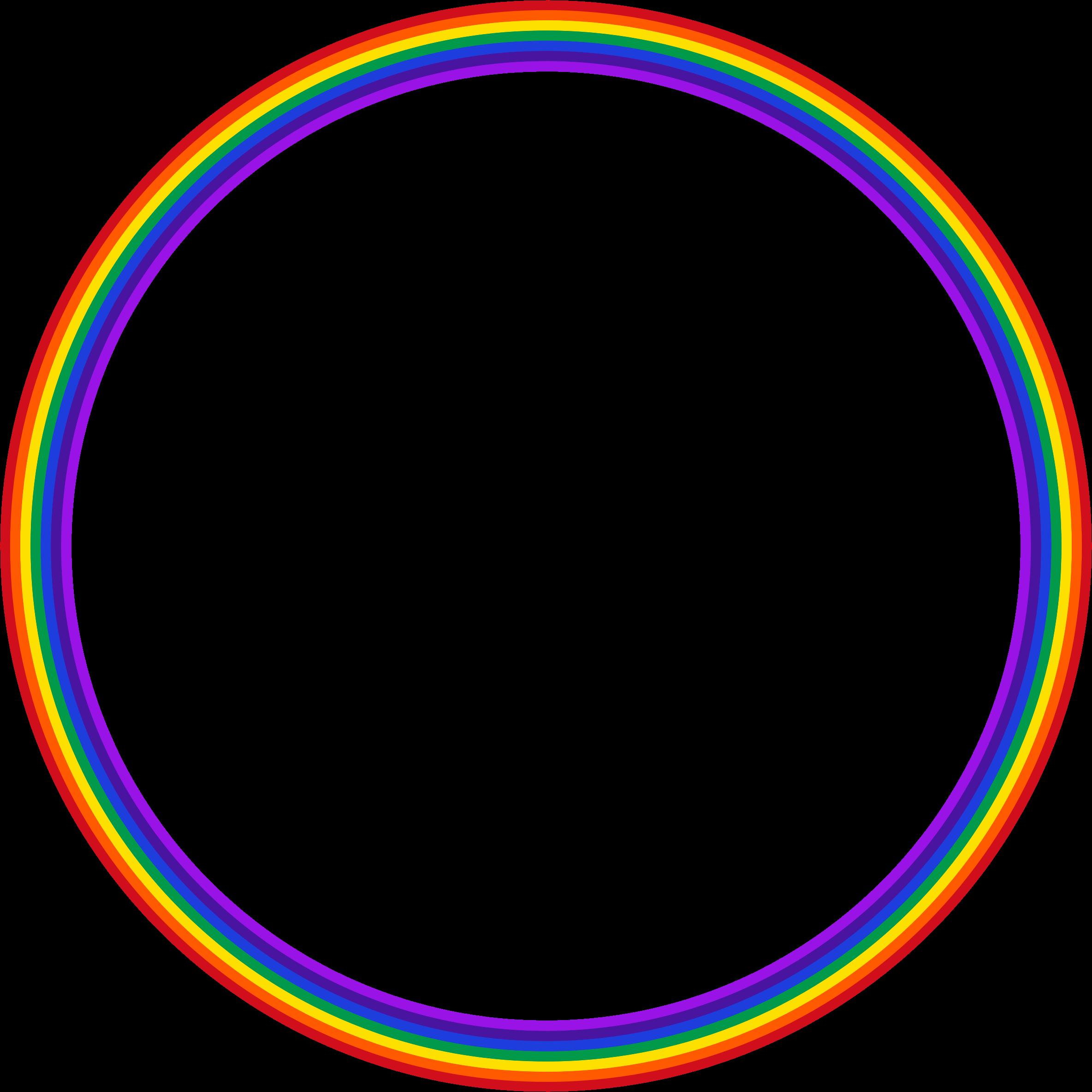 Clipart circle circle shape. Rainbow big image png