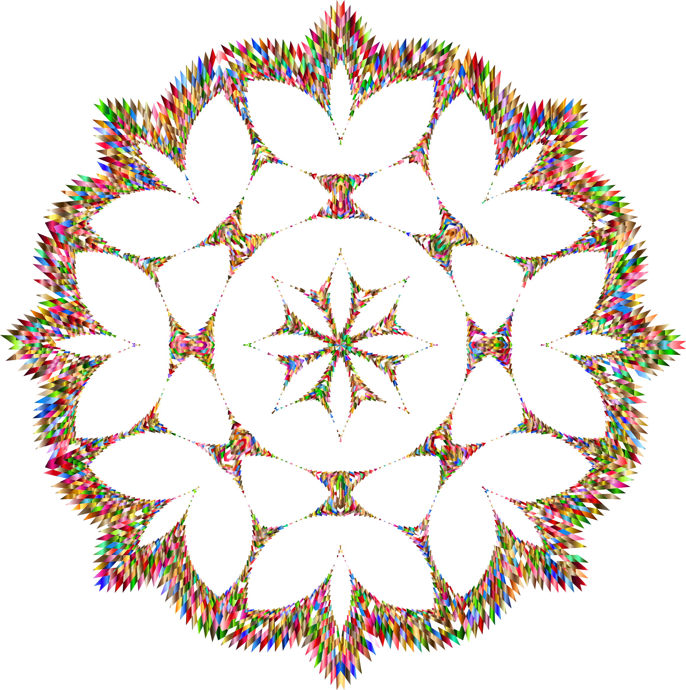 Clipart snowflake illustration. Jagged chromatic no background