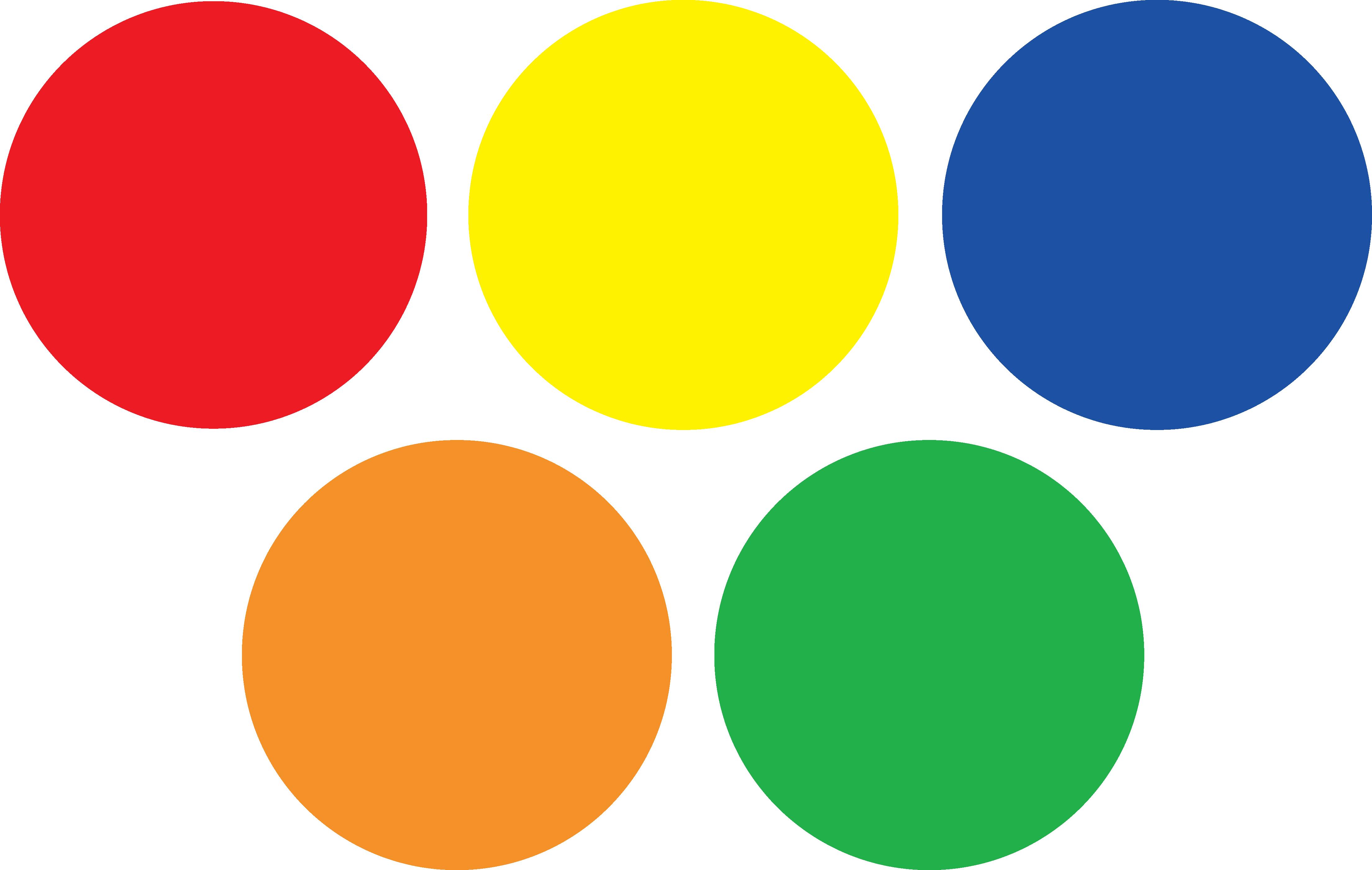 Dot clipart colour full. Colors colorful circle pencil