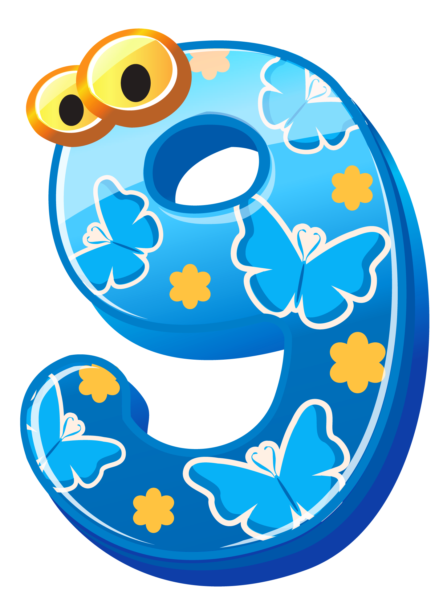 Earth clipart pastel. Cute number nine png