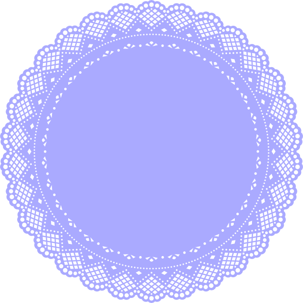 Lilac clip art at. Heart clipart doily