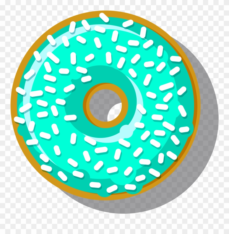 Donut clipart circle. Doughnut cute border aqua