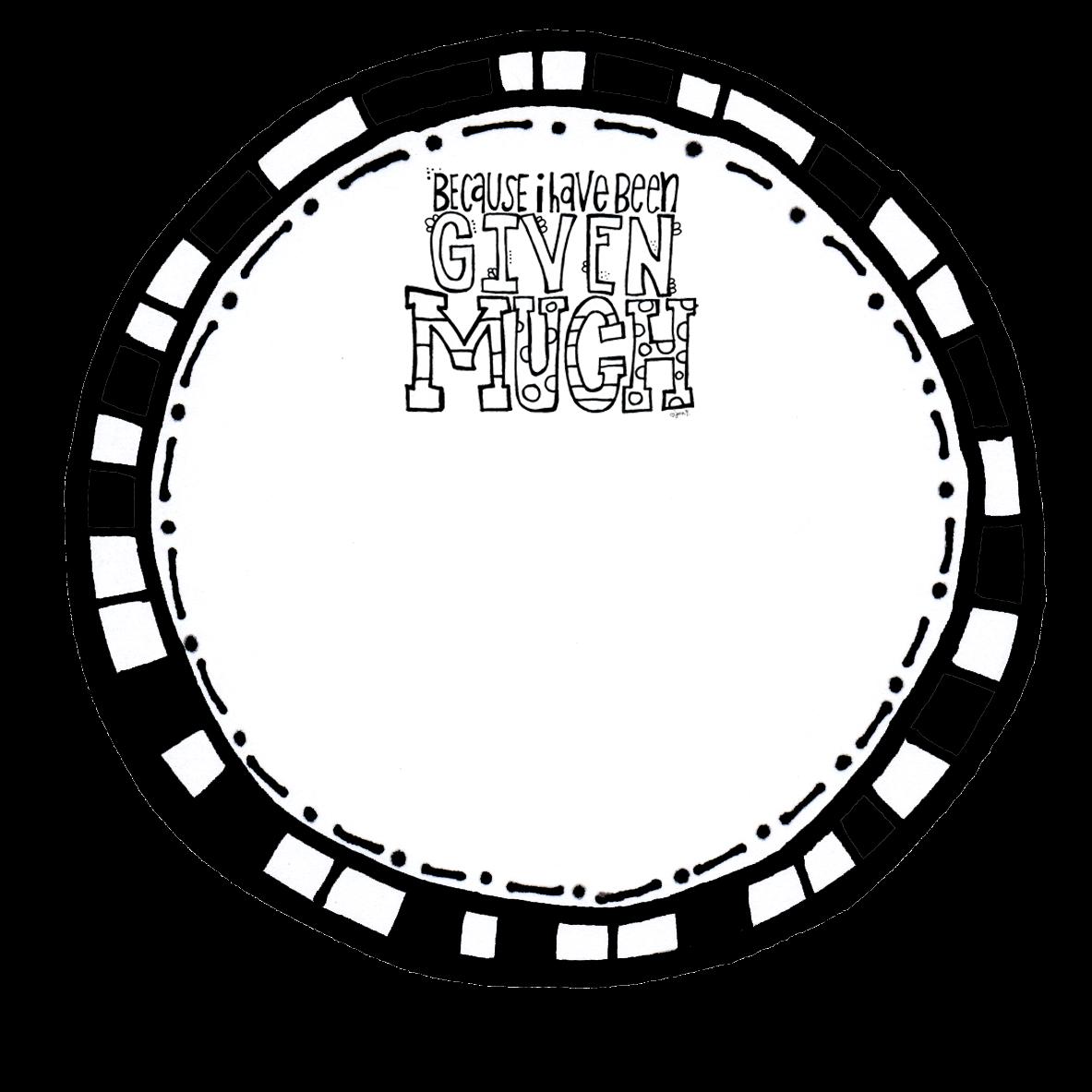 Aimless daze november frames. Clipart circle doodle