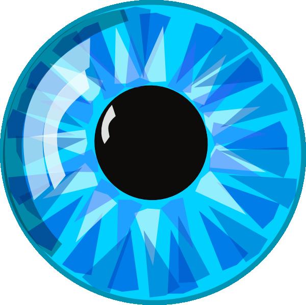 Clip art at clker. Eye clipart blue