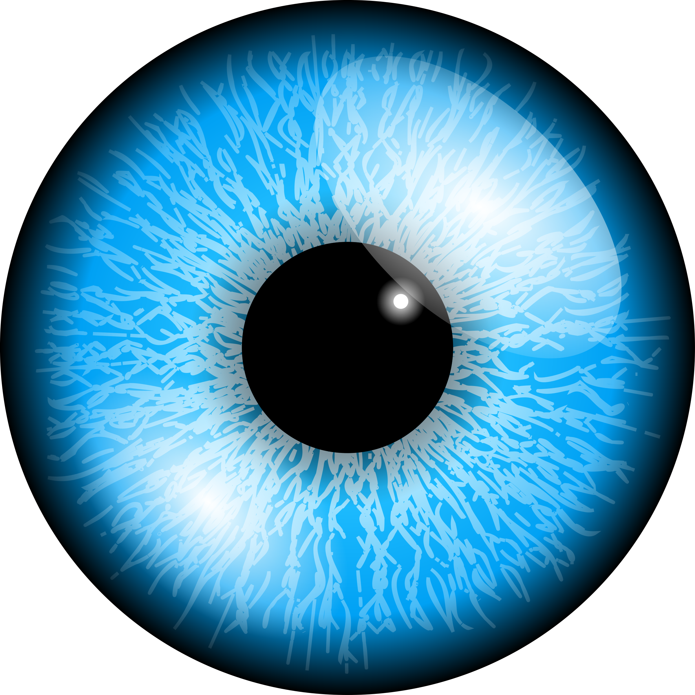 Eye akis big image. Clipart eyes blue