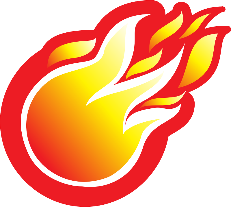 Fire ball icon medium. Clipart flames pdf