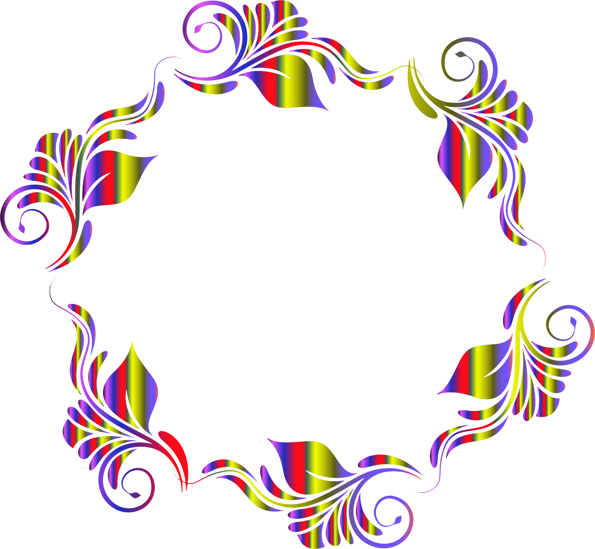 Colorful pattern in a. Flowers clipart circle